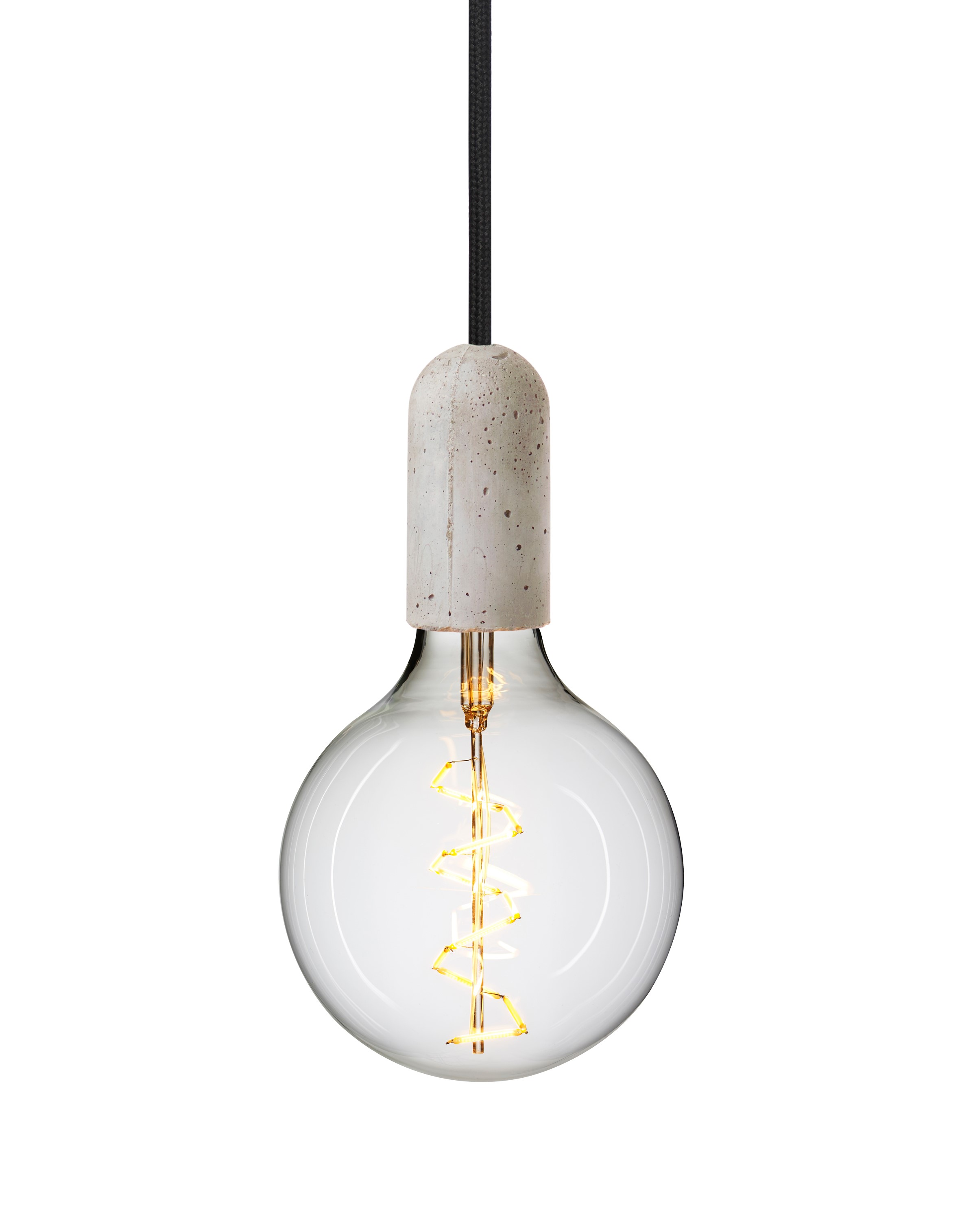 concrete products shades led bell of pendant natural shaped light
