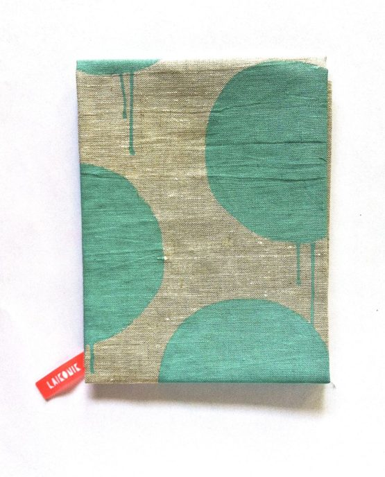 Paint dot linen tea towel