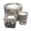 Concrete candles