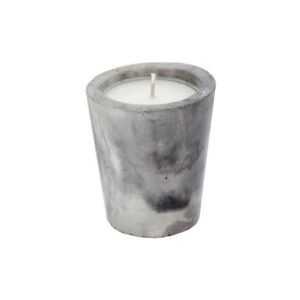 marbled concrete candle