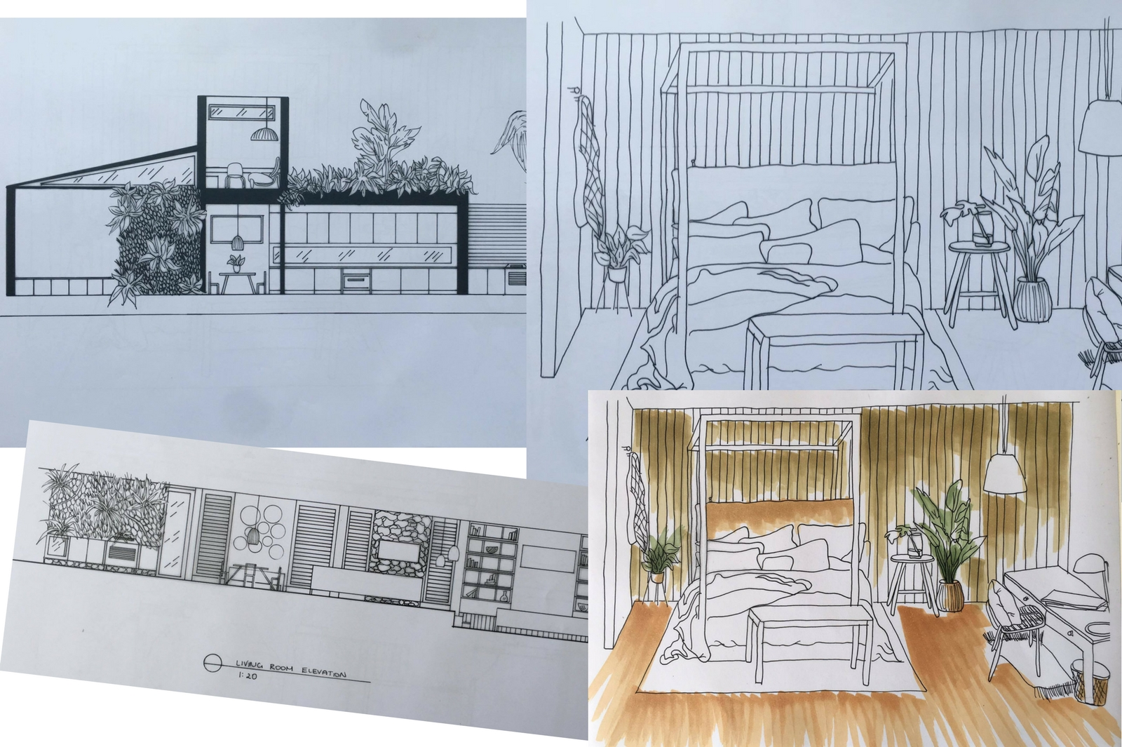 Azure Interiors, interior design plans
