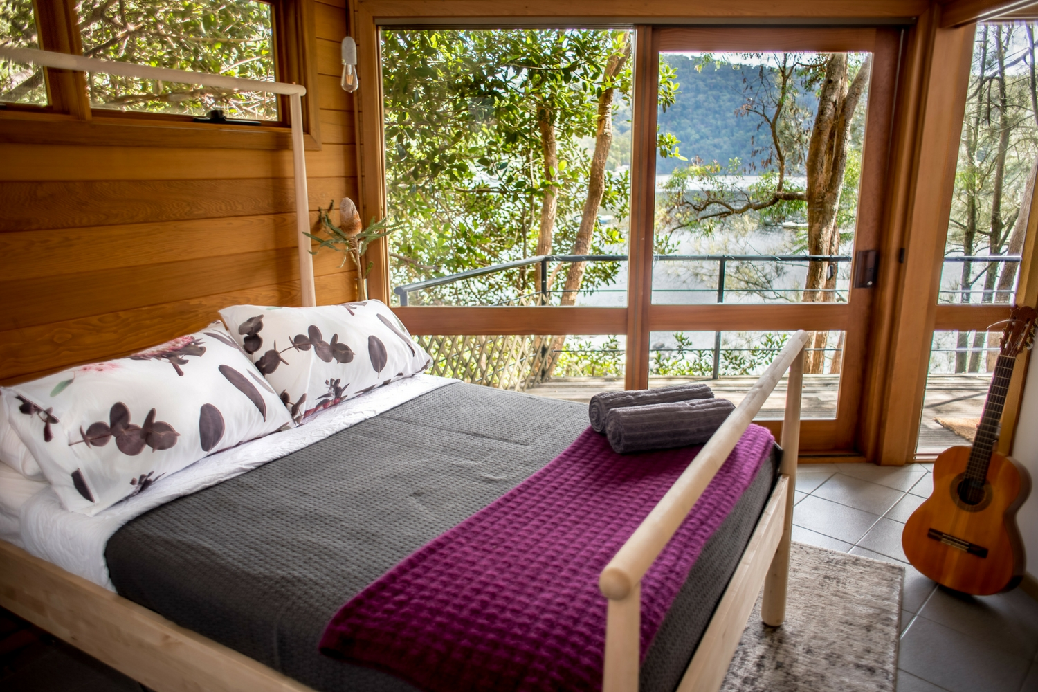 Berowra Waters bedroom, holiday home