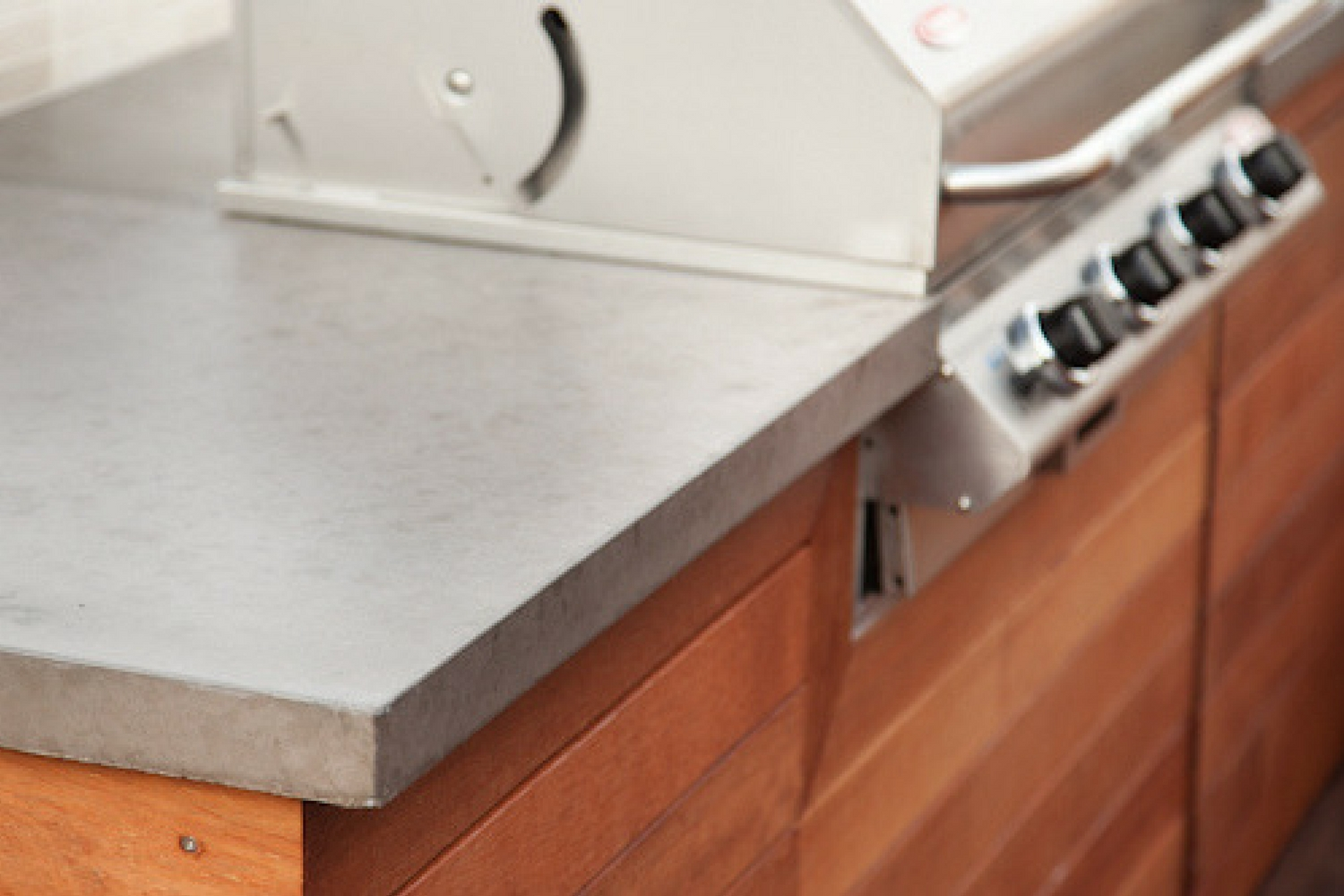 Concrete benchtop, BBQ benchtop, real concrete