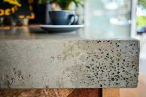 Concrete benchtop, cafe benchtop